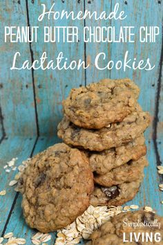 Homemade Peanut Butter Chocolate Chip Lactation Cookies. I took out the peanut butter and subbed in butterscotch chips - bake time 13 minutes, leave on tray to cool