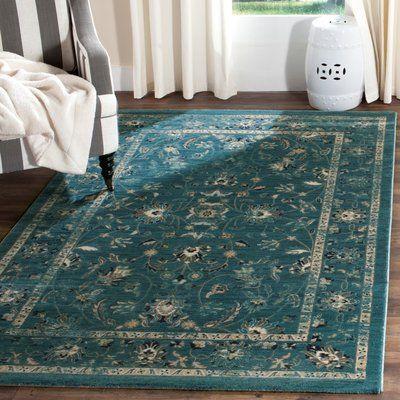 House of Hampton Herne Bay Turquoise/Beige Area Rug Rug Size: Runner 2' x 8'