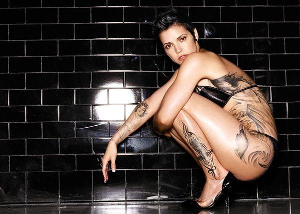 tattooed women by photograph warwick saint, usa.