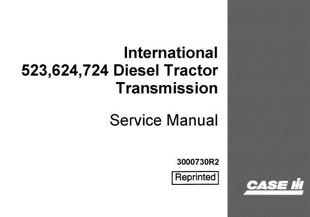 Case IH International 523, 624, 724 Diesel Tractor