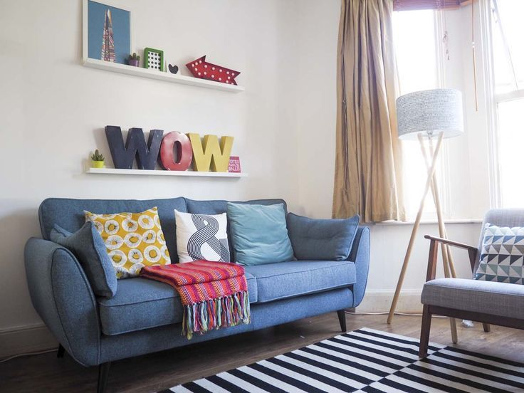 The Living Room Makeover Challenge With Dfs 2019 Sofa The Post The Living Room Makeover Challenge Wi Blue Sofas Living Room Small Room Sofa Blue Sofa Living