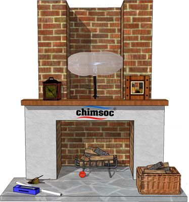 This  Chimney Balloon is reusable, so you can inflate and deflate it as often as required.  The tough, yet flexible plastic construction has a heat sealed plastic inner sleeve to stop leaks.  Shaped allow for a little ventilation, the inflation hose can be tucked alongside the inflated balloon to ensure a degree of airflow and prevent condensation.  Supplied as a boxed product. £12.00
