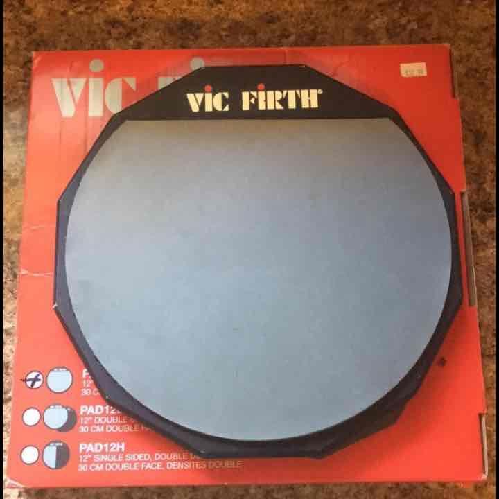 "VIC FIRTH 12"" SINGLE SIDED DRUM  PAD - Mercari: Anyone can buy & sell"