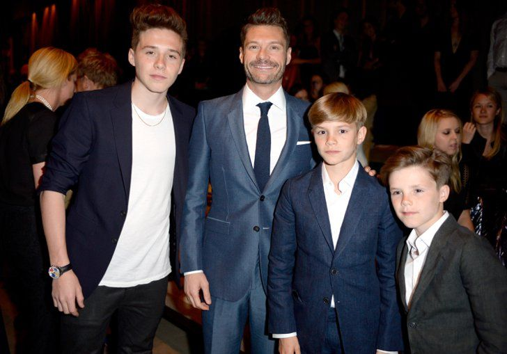 Pin for Later: Last Night's Burberry Show Was About So Much More Than the Runway Brooklyn Beckham, Ryan Seacrest, Romeo Beckham, and Cruz Beckham