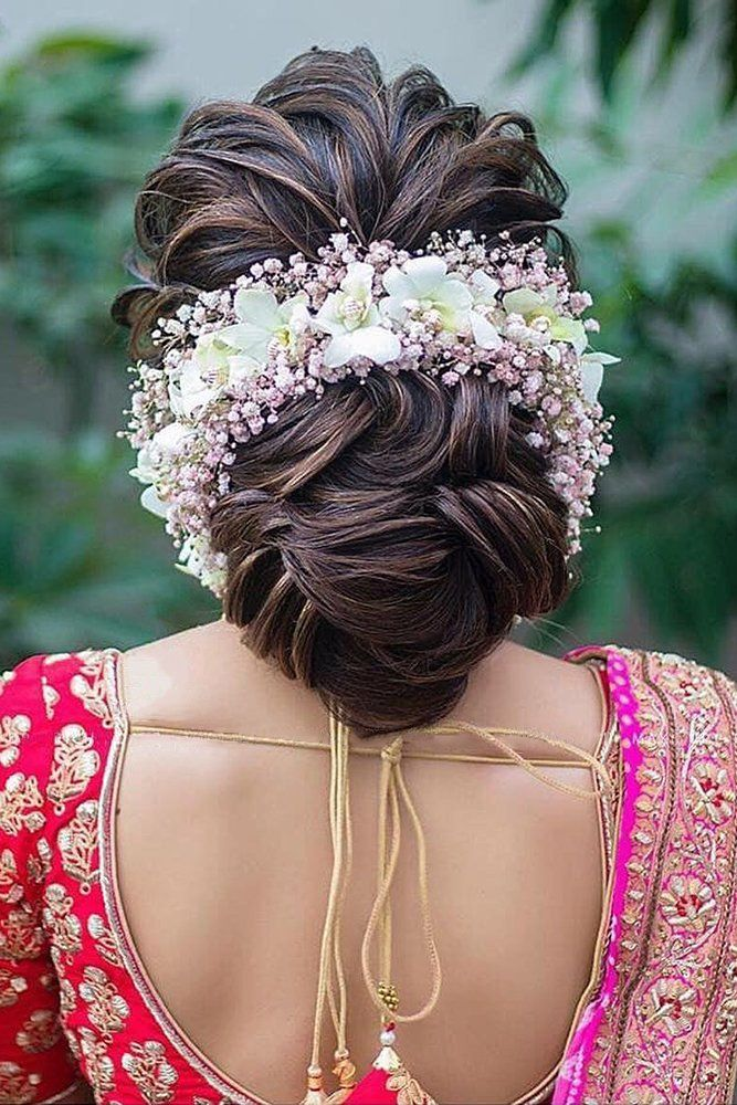 Wedding Guest Hairstyles 42 The Most Beautiful Ideas Wedding Forward Bridal Hair Buns Bridal Hairstyle Indian Wedding Wedding Hairstyles For Long Hair