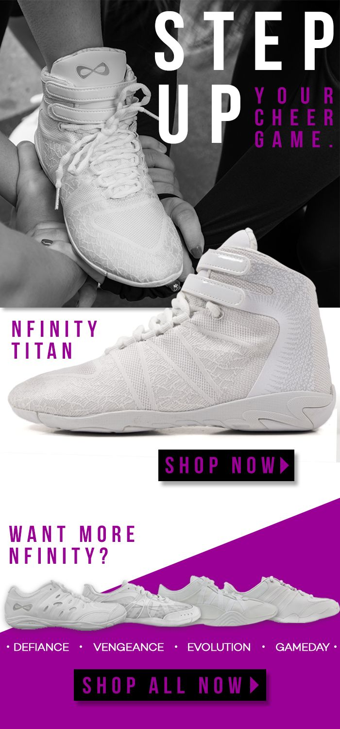 Step up you cheer game with the Nfinity Titan Cheerleading Shoes.
