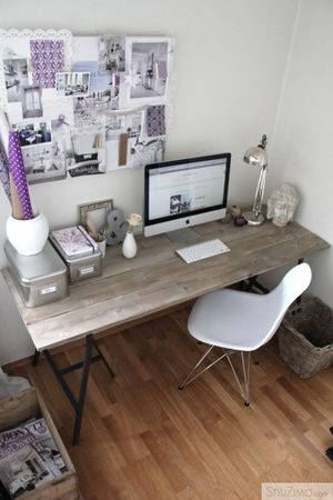 homemade desk                                                                                                                                                      More