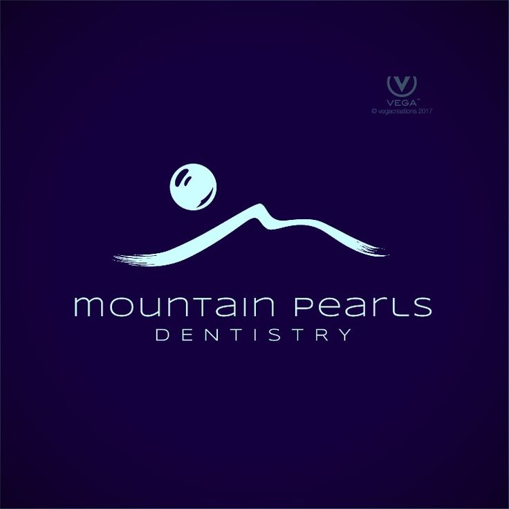 Logo design for Mountain Pearls Dentistry in Big Sky, Montana by Vega Creations™