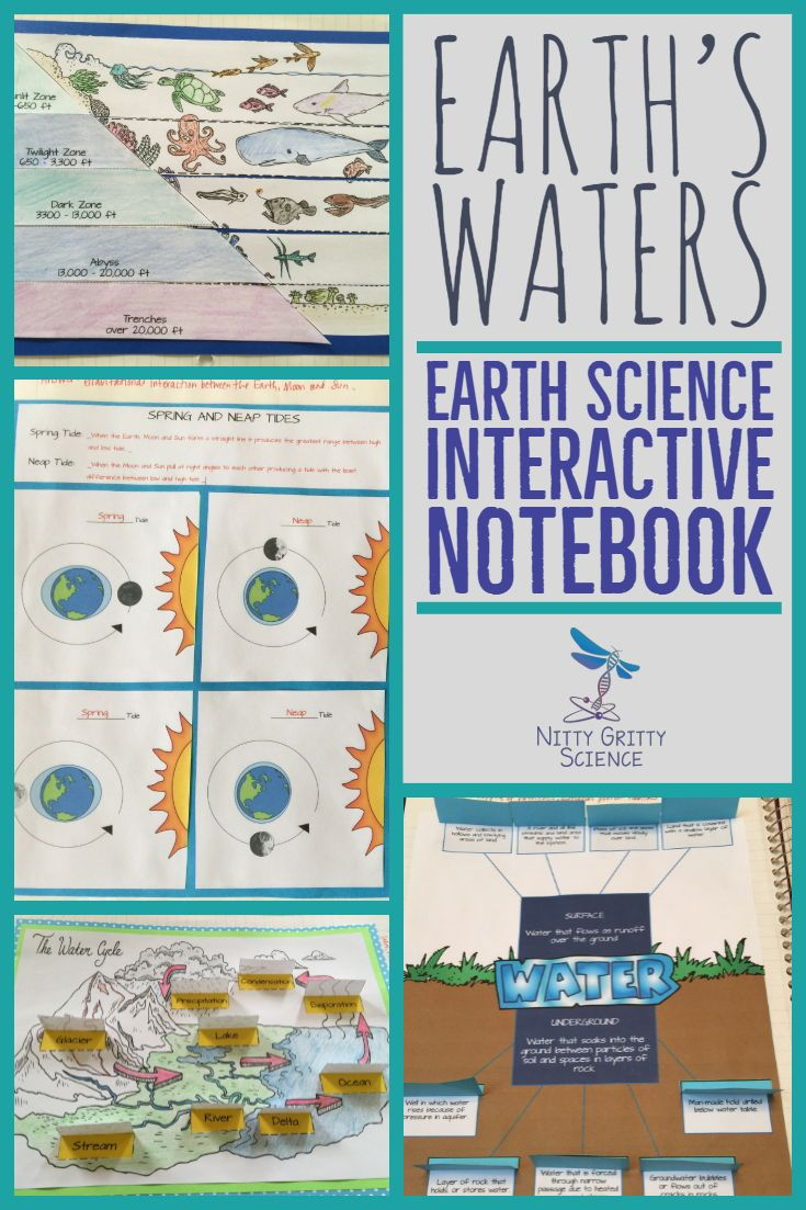 Earth S Waters Earth Science Interactive Notebook Includes The Following Concepts Earth The Interactive Science Notebook Earth Science Interactive Notebooks