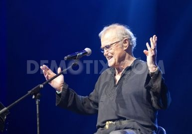 Franco Califano performs live at il Sistina theater in Rome.