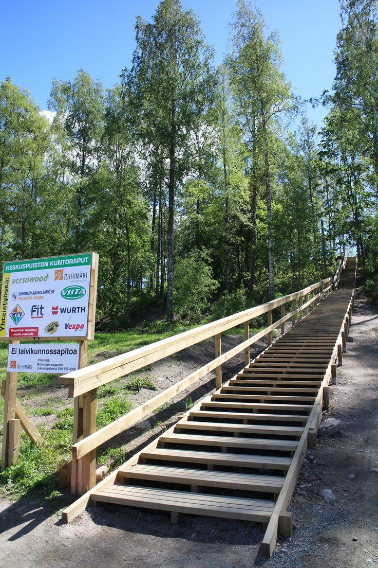Keskusurheilupuiston kuntoraput. #Riihimäki