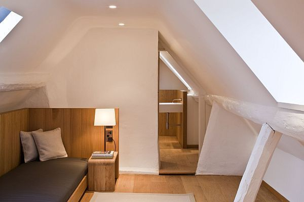 white attic bedroom design