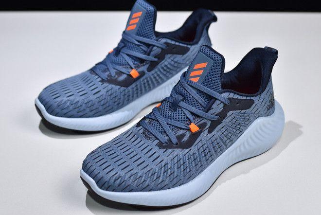 adidas Alphabounce + Navy Blue/Orange