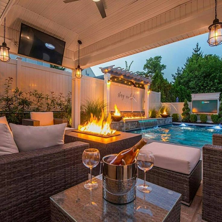 "247Interiors on Instagram: ""Backyard swimming pool goals ..."