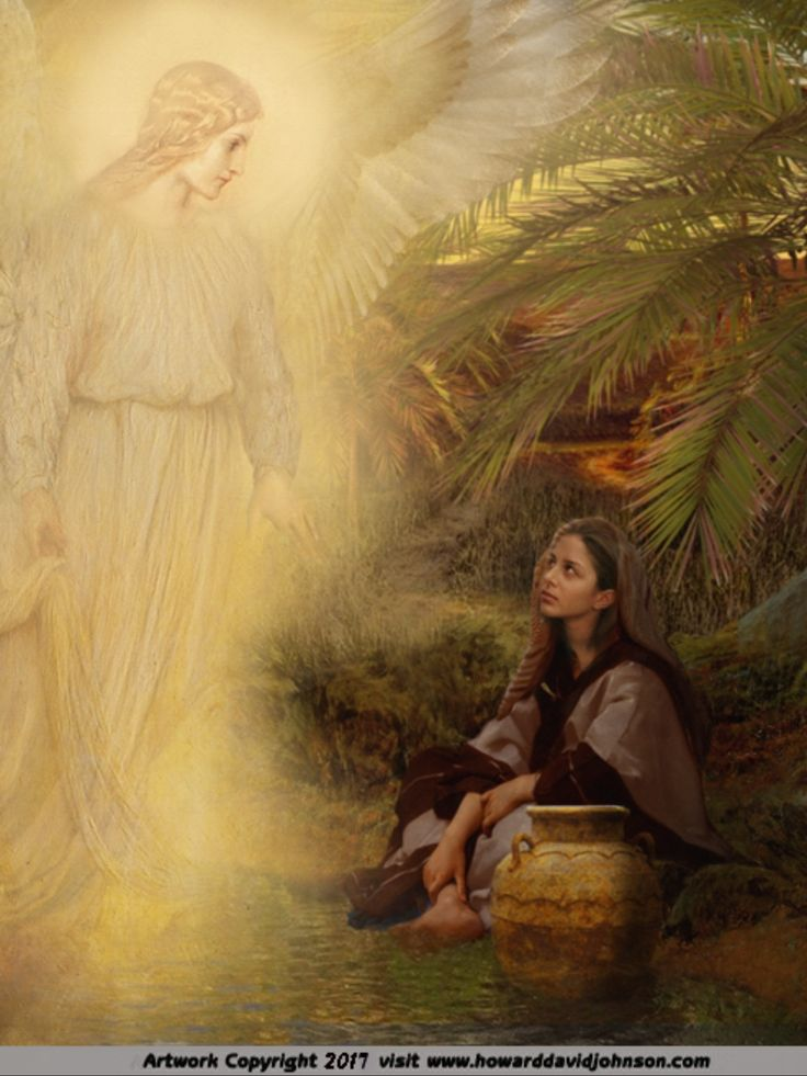 The Angel Visits With Hagar In The Wilderness. Genesis 16 ...