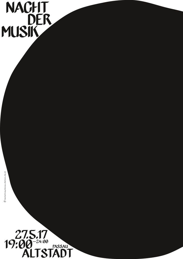 passau poster kw_18 Nacht der Musik #party #passau #stadtpassau #poster #plakat #typography #graphic_design #black_and_white #pure_typography #design #prints #passau #inspiration
