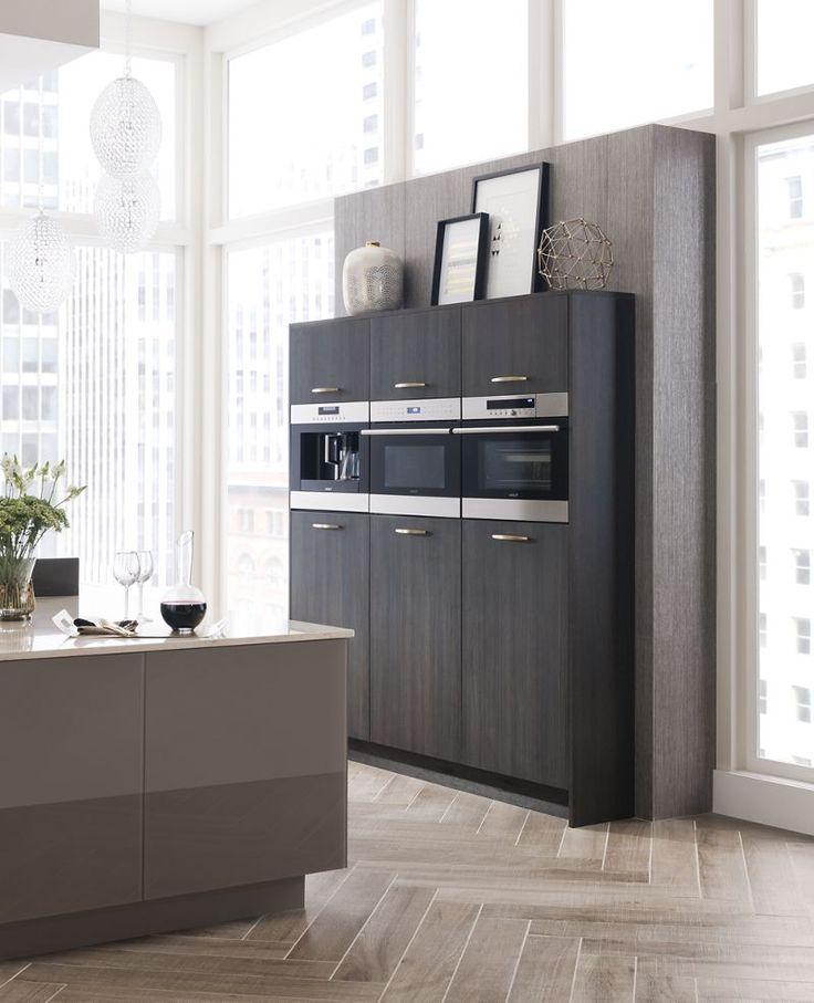 küche mit kochinsel lila barhocker schöner bodenbelag Küche - bodenbeläge für küche