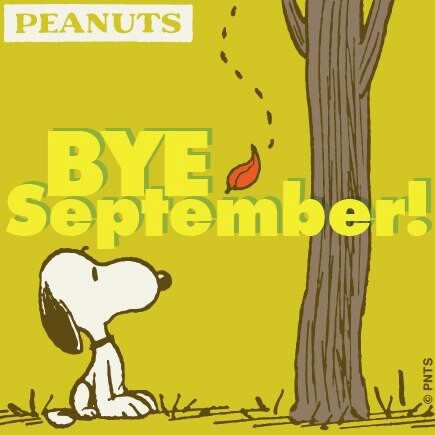 Snoopy Bye September October Hello October October Quotes Goodbye September  Welcome October Goodbye September Hello October October Images
