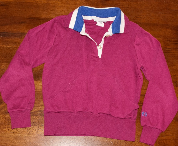 Vintage rugby shirt 80s long sleeve striped polo mcgregor for Long sleeve striped rugby shirt