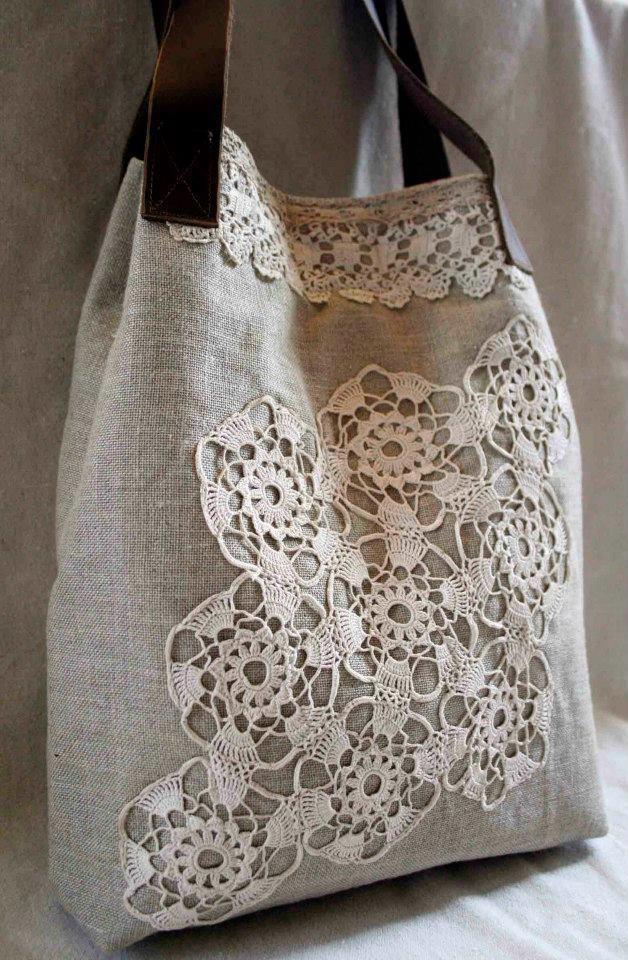 ♥bag with crochet motive