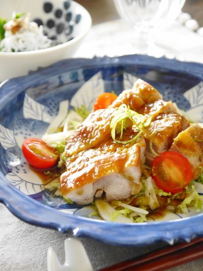 和食でおもてなしランチ♪『ぴりり爽やか、鶏の柚子胡椒照り焼き』他 ...
