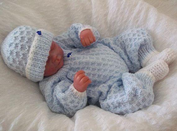 Baby Knitting Pattern - Boys or Girls - Download PDF Knitting Pattern Roo-Dolf Baby or Reborn Doll Romper Set