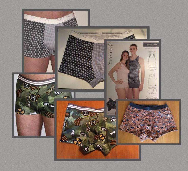 For mange år tilbage syede jeg alt undertøj til mine piger og min mand. Men som pigerne voksede til ville de ikke mere have mors syede trusser. Men nu er tiden vist kommet til at begynde igen på undertøj, om ikke andet til min mand. Det er jo en rigtig fin måde at få brugt sine jerse....