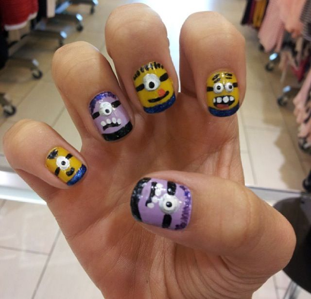Minion nails (Despicable Me 2)