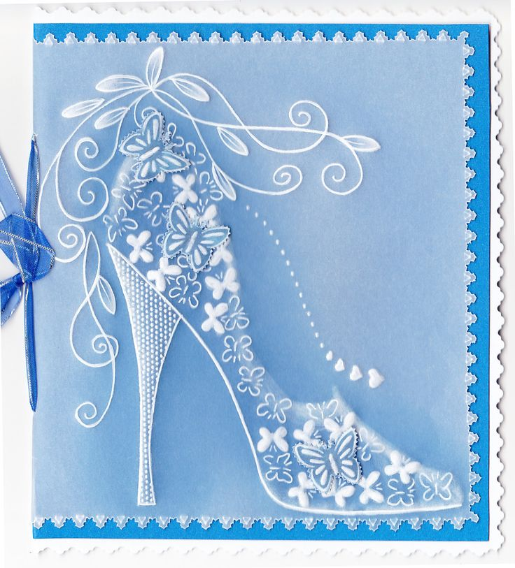 Pergamano (Parchment Paper Art):  Butterfly Shoe - art from Lesley's Parchment