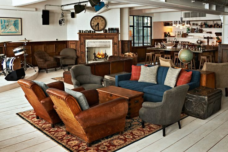 Shoreditch House | Living Room Love the floors