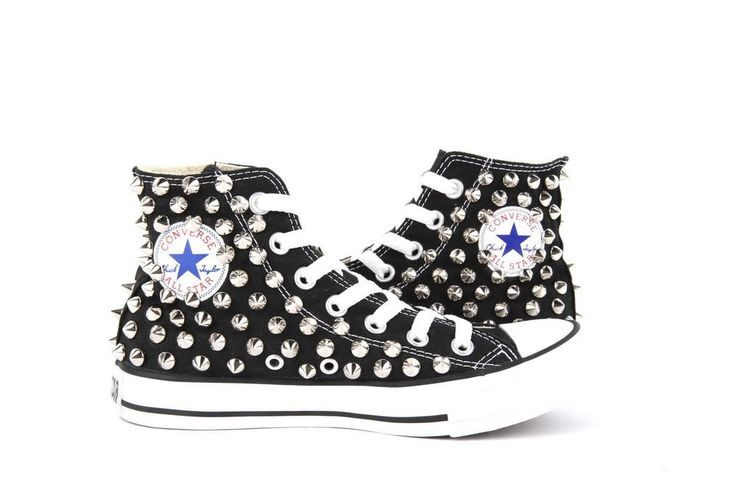 Studded Converse All Star Chuck Taylor Spike Studs Black USW9.5 / UK9.5/ EU43  | eBay