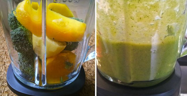 Krachtige smoothie met mango en broccoli  via http://www.healthyandhandsome.nl/