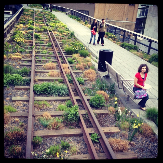 The #highline in #chelsea. It's built on top of an elevated subway track!  #socool