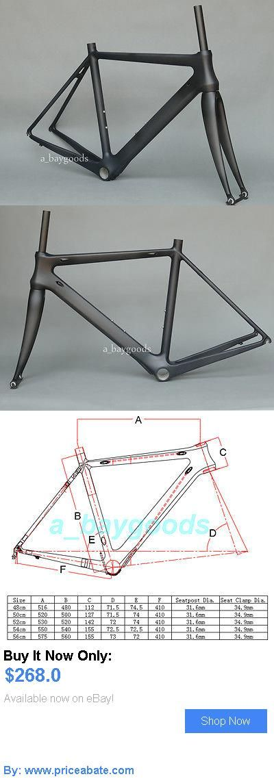 bicycle parts: Brand New Full Carbon Matt Cycling Road Bike Frame 48Cm Bicycle Fork 700C BUY IT NOW ONLY: $268.0 #priceabatebicycleparts OR #priceabate