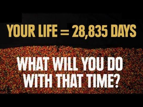 your life = 28,835 days....what are you going to do with this time?