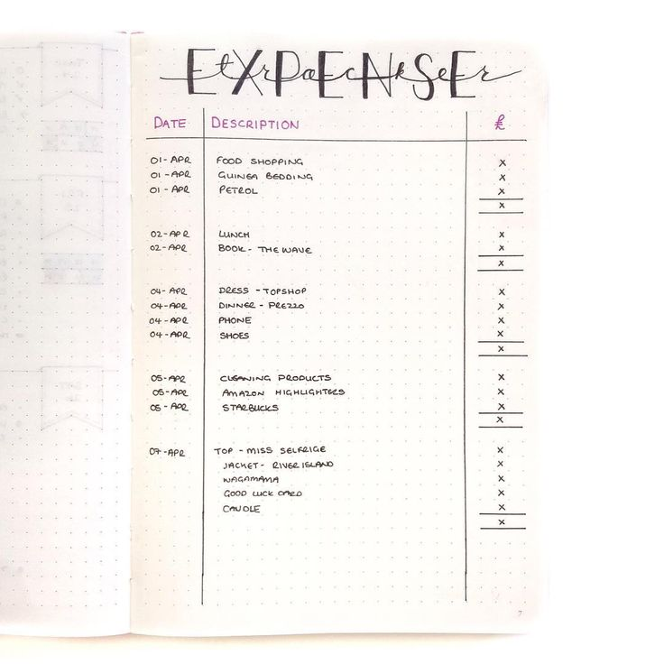 """""""I wanted to share my expense tracker with you but without showing my actual expenditure so I quickly put this together for you guys. It's exactly how I…"""""""