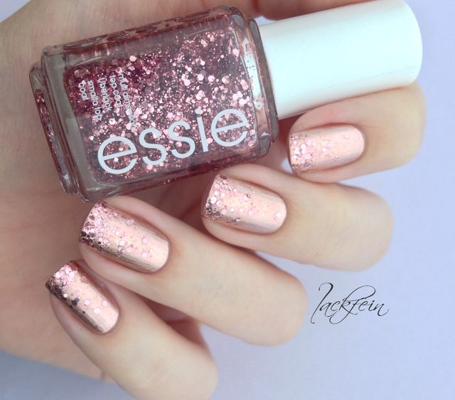Rose Gold Nail Glitter: Best 25+ Rose Gold Nail Polish Ideas On Pinterest