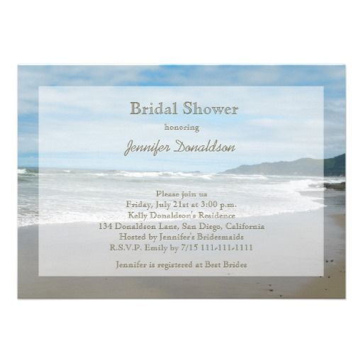 18 best Bridal Shower Invitations Beach Theme images on Pinterest - best of invitation templates for beach party