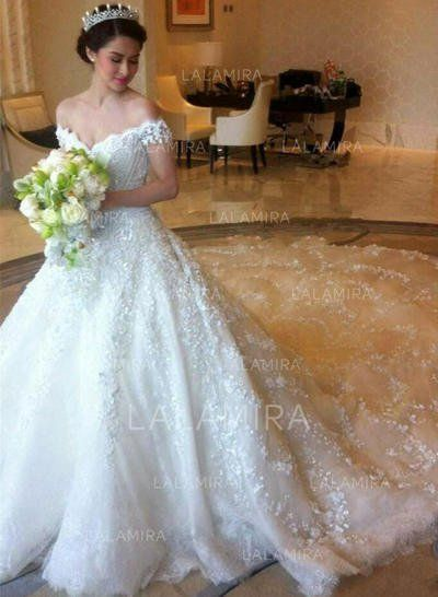 eb07485a91a Royal Train Ball-Gown Regular Straps - Tulle Lace Wedding Dresses  146252 -  lalamira