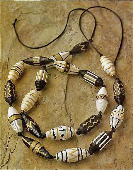 recycling paper: african beads made ​​of paper …! - crafts ideas - crafts for kids