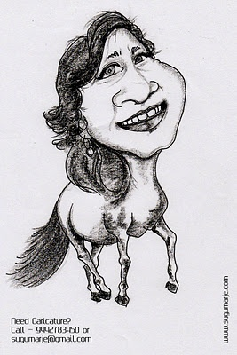 Caricature with Creature