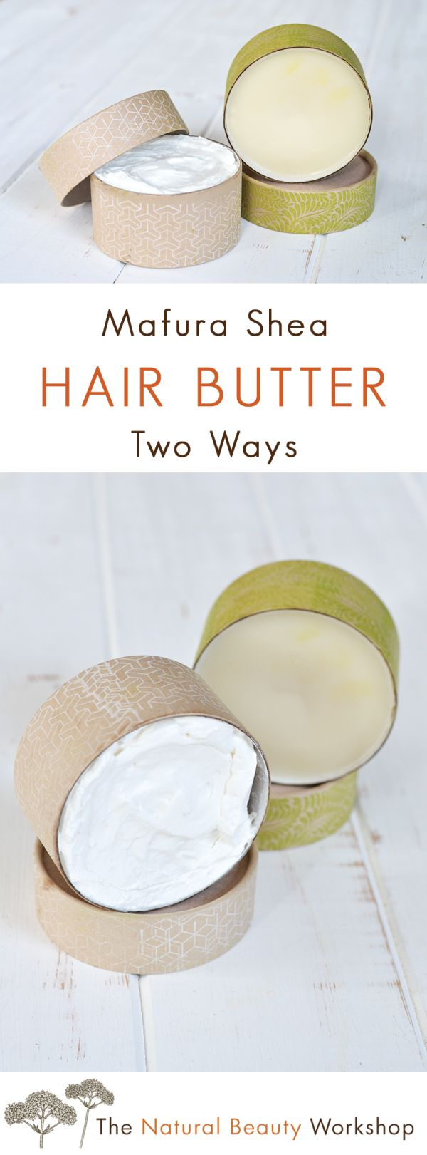 Shea Mafura Whipped Hair Butter Recipe! Two simple recipes for pomade and hair butter made with mafura oil and shea butter.