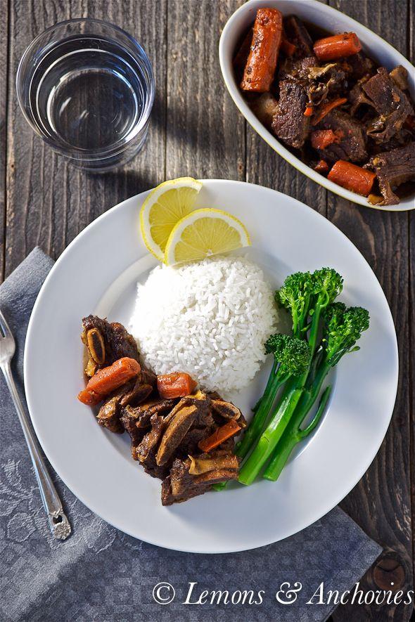 Slow Cooker Asian-Style Short Ribs via @Jean Loang | Lemons and Anchovies