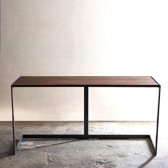 Suspended Wood and Metal Desk Modern by TaylorDonskerDesign