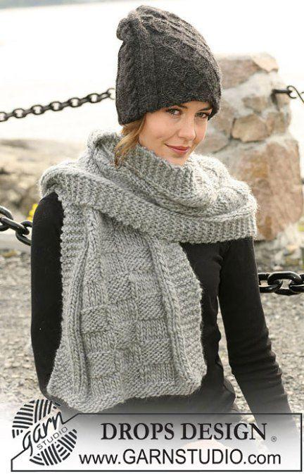 Теплая двойная шапка спицами на зиму