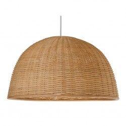 Wicker Dome Pendant Lamp