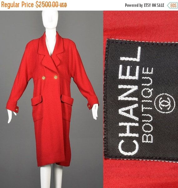 10% OFF Vintage 80s Chanel Boutique Winter Coat by StyleandSalvage