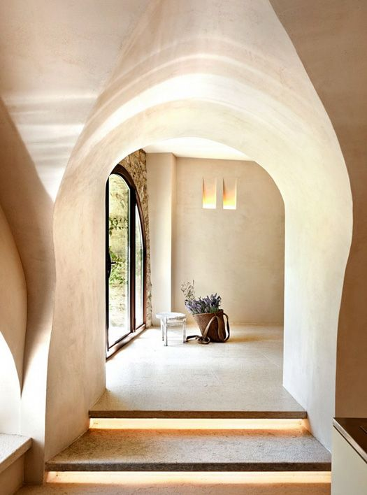 possible to make the recessed lights between studs in a wood framed house (though I would far prefer straw bale and stucco!) - desiretoinspire.net -