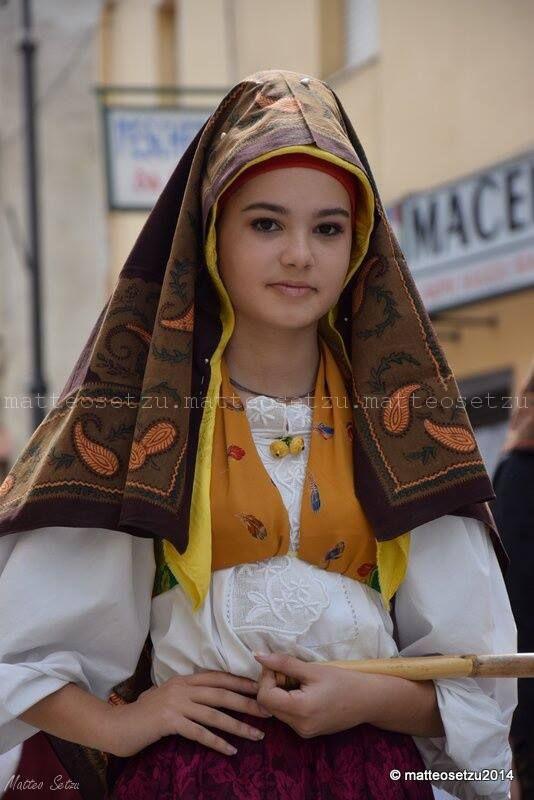 Sardinia, traditional dress from Cabras. Photo by Matteo Setzu