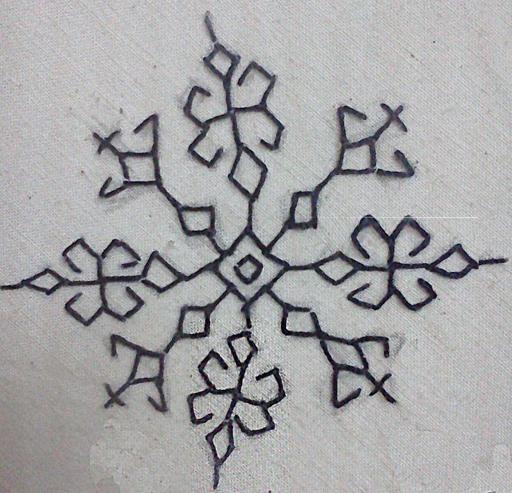 Kasuti motif for more kasuti motifs visit http://embroideryknits.wordpress.com/2013/07/21/kasuti/